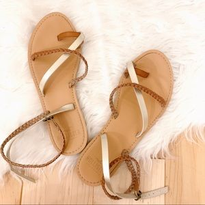 Sandals with ankle wrap